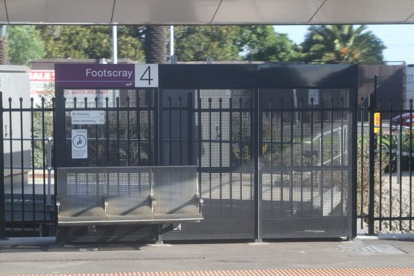 'Victoria University' signage removed for good at Footscray station platform 4