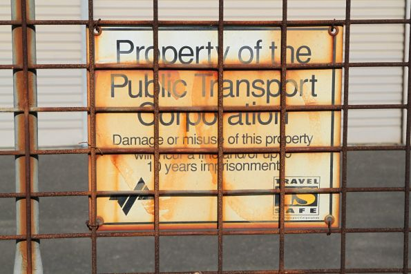 Forgotten 'Property of the Public Transport Corporation' sign
