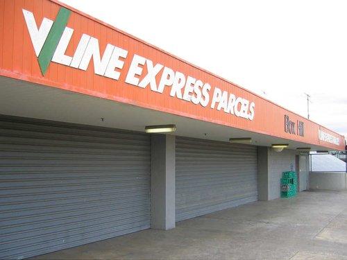 Former V/Line parcels office at Box Hill