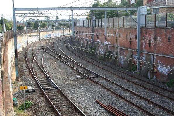 Cutting at Camberwell looking up the line