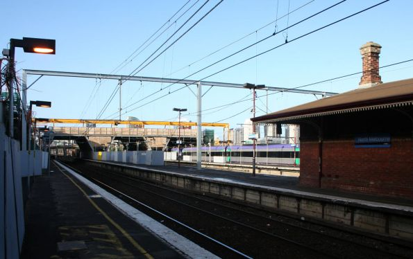 Work on the station at North Melbourne