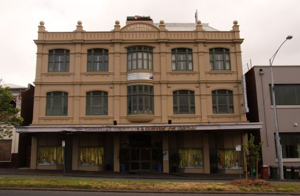 Former headquarters of the AFULE - 'Loco Hall' in Victoria Street, North Melbourne