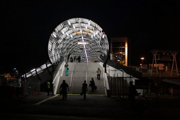 And now the Footscray footbridge in the dark
