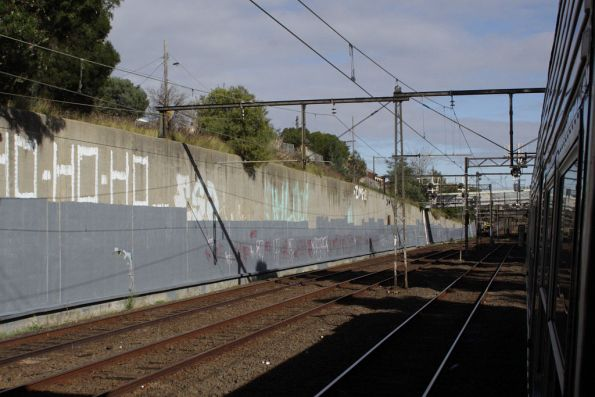 Relatively clean retaining walls between Burnley and East Richmond