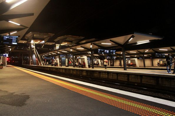 North Melbourne station by night