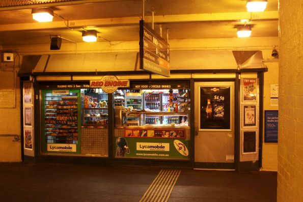 'Red Engine' kiosk in the Caulfield station subway