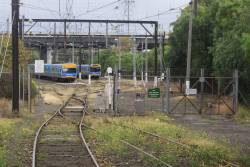 Lead into the North Melbourne Stabling Sidings, located between the mainline and the floyover to Kensington