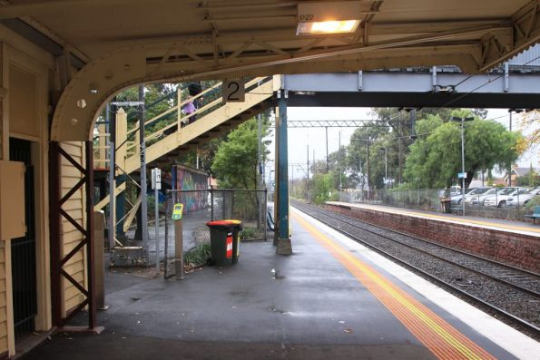 Standard steel truss used for Victorian Railways cantilevered platform verandas