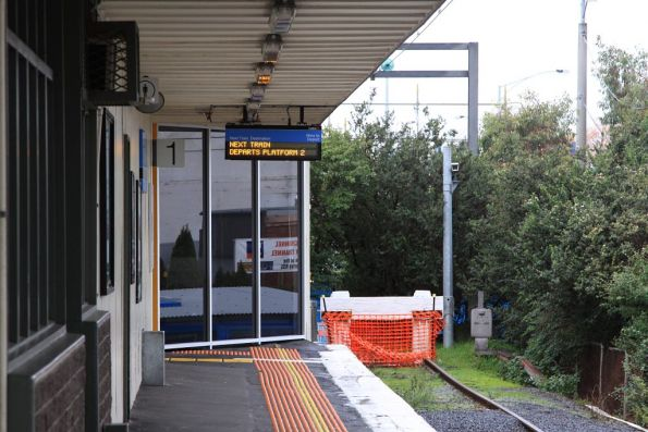End of platform 1 at Glen Waverley