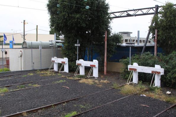 Buffer stops in the yard at Glen Waverley