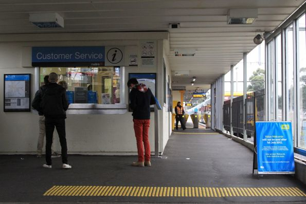 Booking office at Glen Waverley station