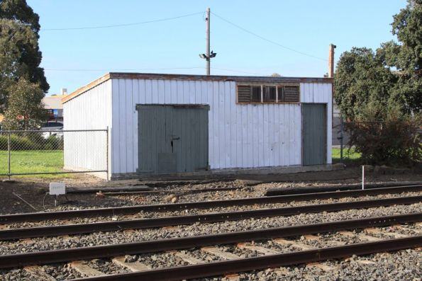 Disused way and works shed at the down end of Coburg station