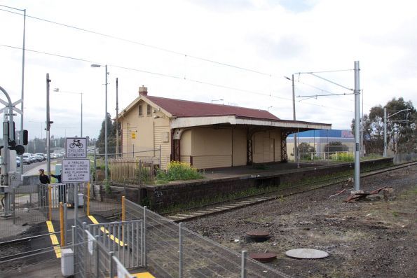 Disused station building at the original Sydenham station