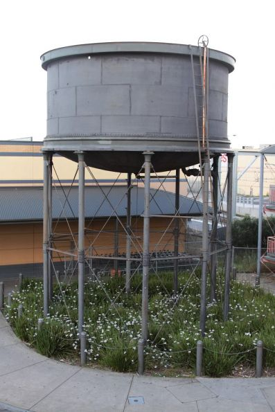 Elevated water tank at the west side of Sunbury station