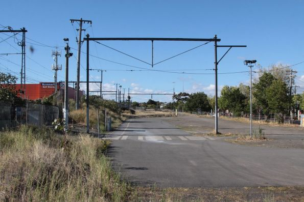 Down end of the former goods yard at Victoria Park