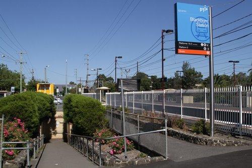 Subway to access the island platform at Blackburn station