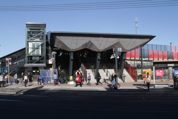 Completed entrance to Footscray station
