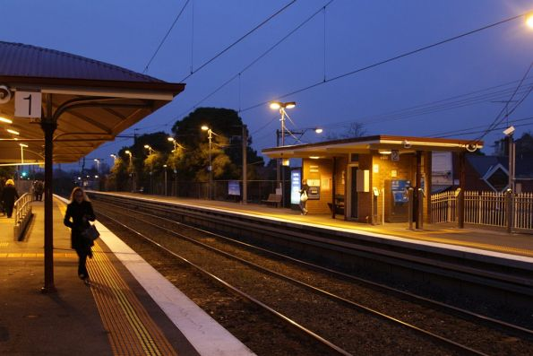 Early morning at Ascot Vale station