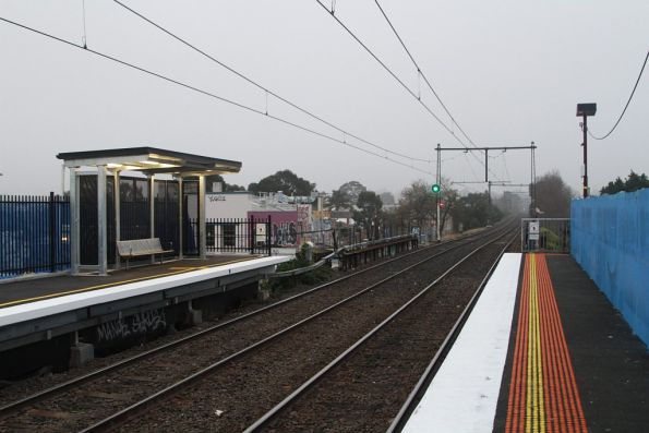 Up end of Balaclava station, with redevelopment works underway