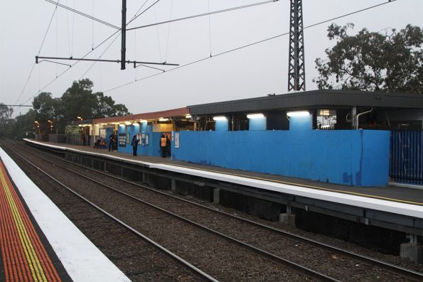 Citybound station building at Balaclava, with redevelopment works underway