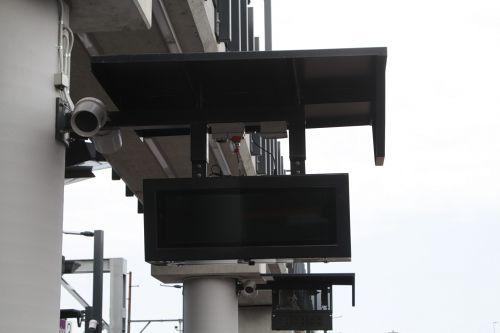 V/Line PIDS on Sunshine platform 3, yet to be switched on