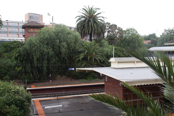 Down end of the platforms at Toorak station