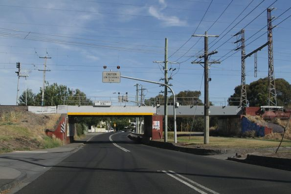 Epping line crosses over Merri Parade in Northcote