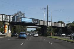 Sandraingham line crosses over the Nepean Highway at Gardenvale