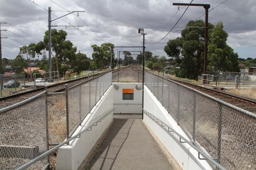 Pedestrian subway for platform access at Ruthven station