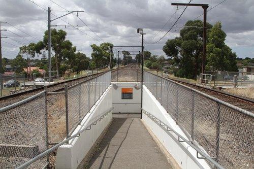 Pedestrian subway for platform access at Ruthven station