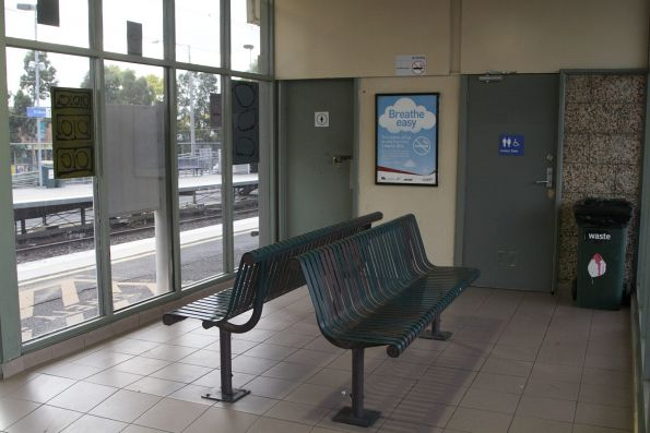 Waiting room at St Albans station