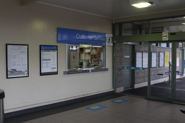Customer service counter at St Albans station