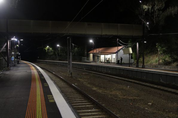 Looking across to platform 1 at Heyington station