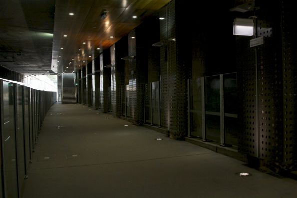 Passenger walkway beneath Springvale Road at Nunawading station