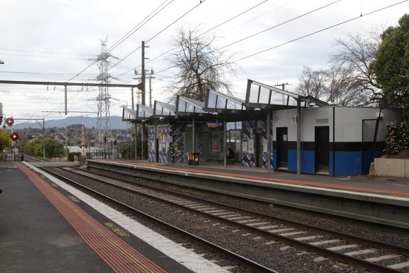 Station building on platform 1 at Heatherdale