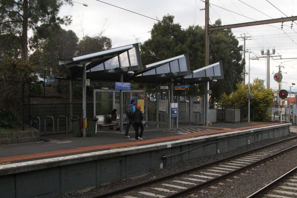 Passenger shelter on platform 2 at Heatherdale
