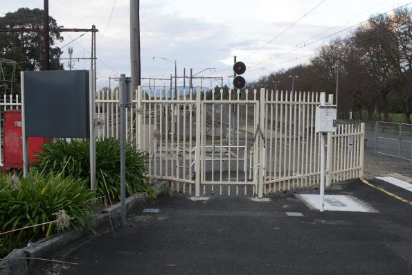 Exit at the down end of Lilydale station, now closed to public access