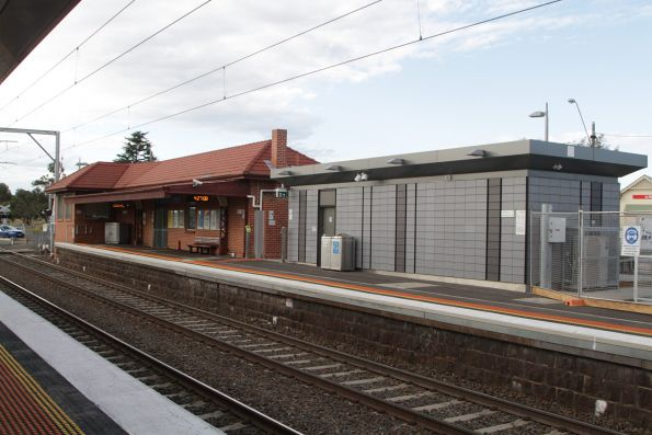 Station building and toilet block at Diggers Rest platform 1