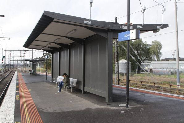 This new shelter at Albion actually protected the passengers from the rain!