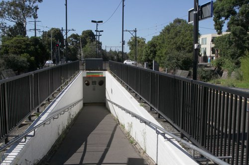 Pedestrian subway for accessing the platform at Glen Iris