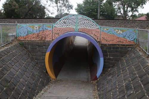 Pedestrian underpass at Noble Park Secondary College