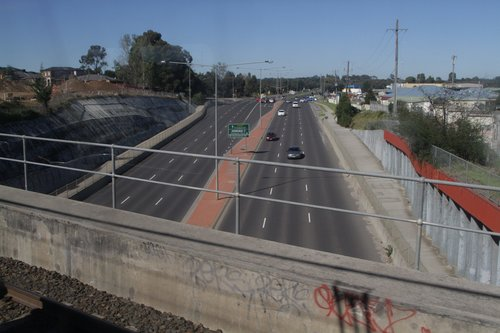 Narre Warren - Cranbourne Road passes beneath the railway at Narre Warren