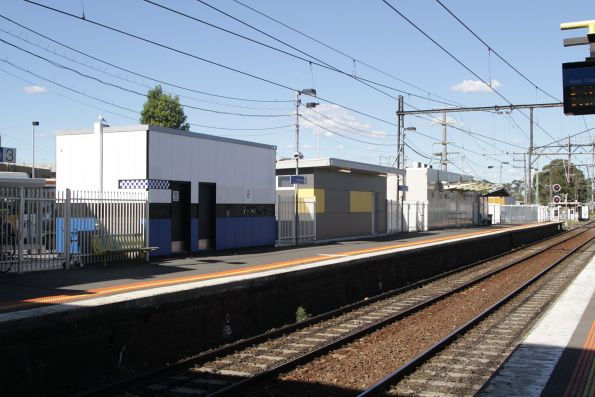 PSO pod beside train crew offices at Dandenong station