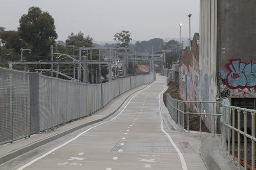 Box Hill to Ringwood rail trail, looking west from Rooks Road, Mitcham