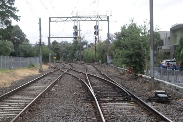 Crossover at the up end of Riversdale station