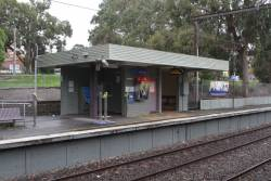 Station building at Heathmont platform 2