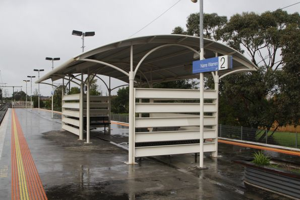 Passenger shelter on the platform at Narre Warren