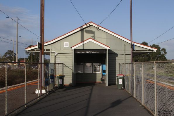 Entrance to the station building at Beaconsfield