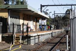 Looking towards the city from Hurstbridge station