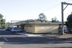 Expanded drivers depot building at Hurstbridge station